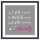 Live Laugh Love Personalised